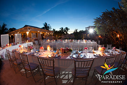 Wedding setup at Pelican Bay